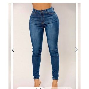 Fashion Nova - Skinny Jeans - Dark Denim